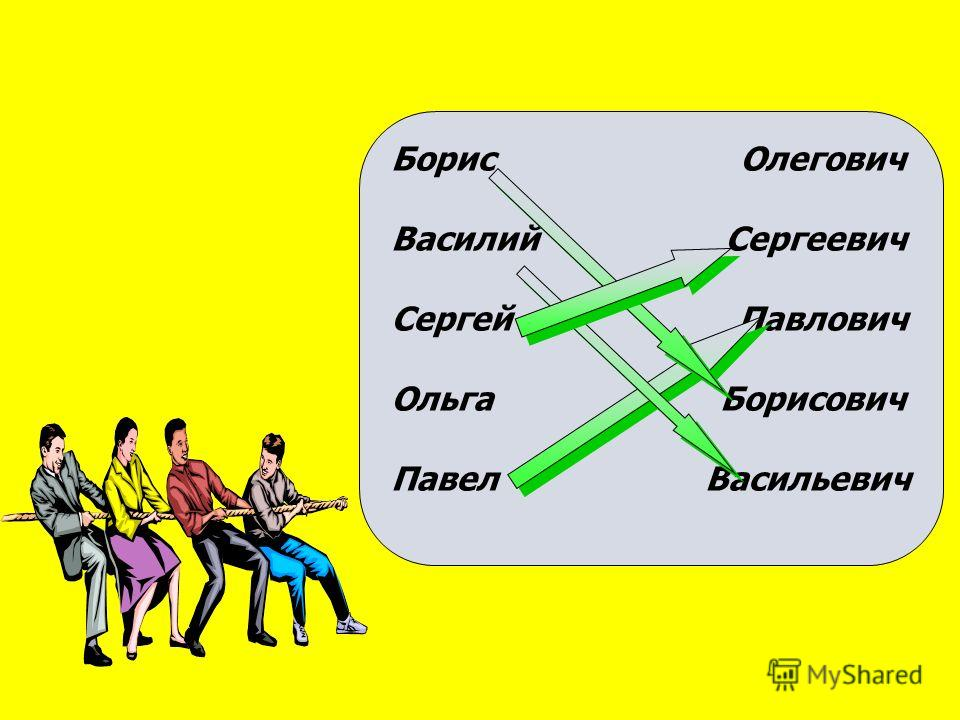 Борис Олегович Василий Сергеевич Сергей Павлович Ольга Борисович Павел Васильевич