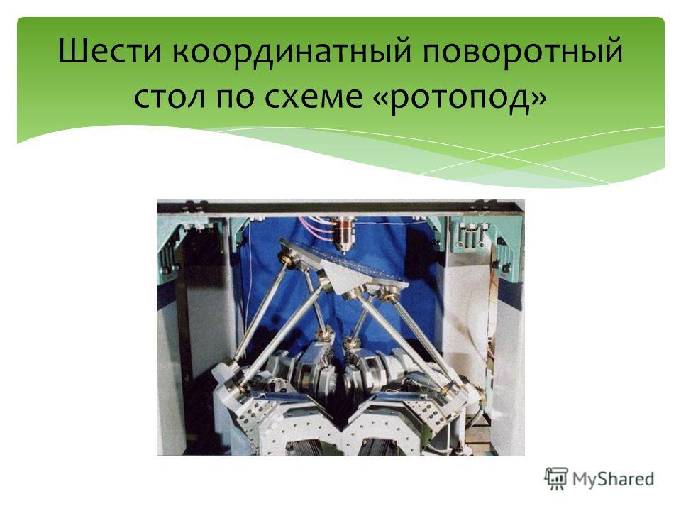 Шести координатный поворотный стол по схеме «ротопод»