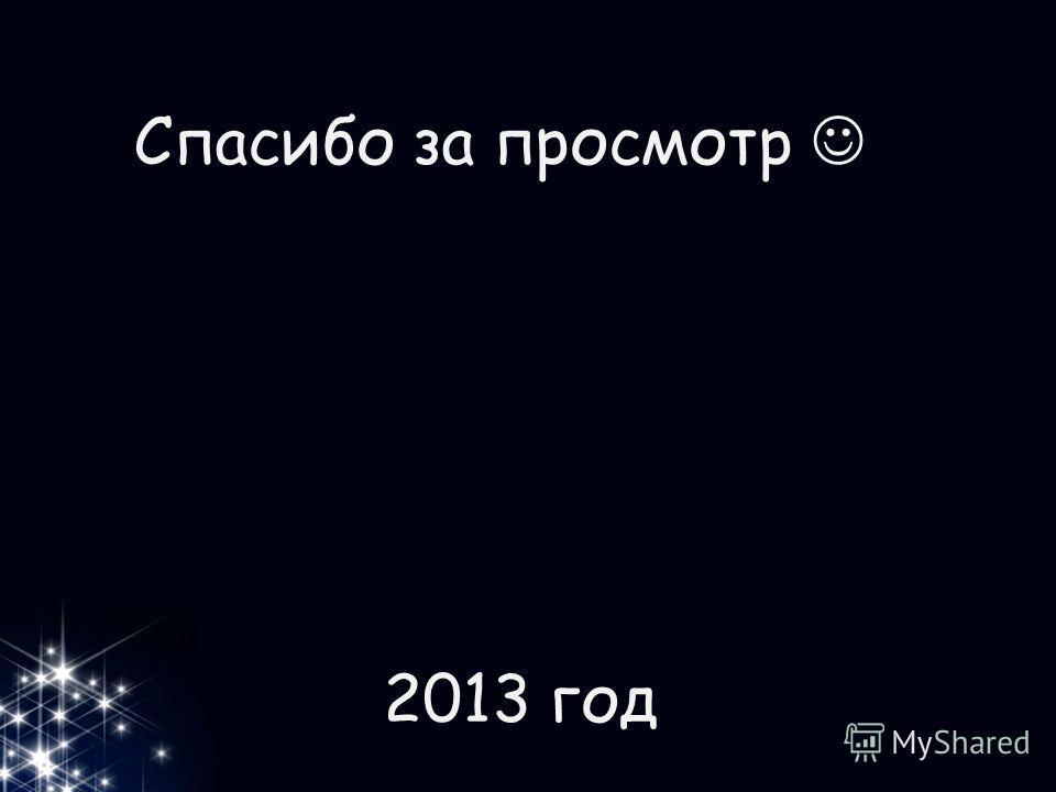 Спасибо за просмотр 2013 год