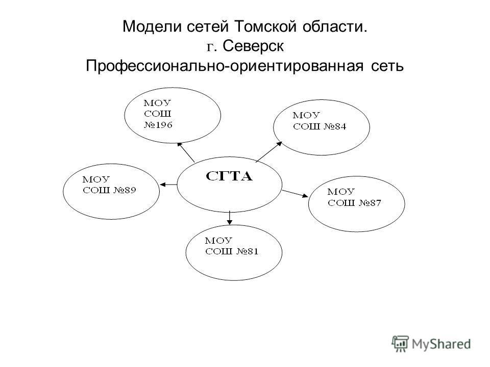 Модели сетей Томской области. г. Северск Профессионально-ориентированная сеть