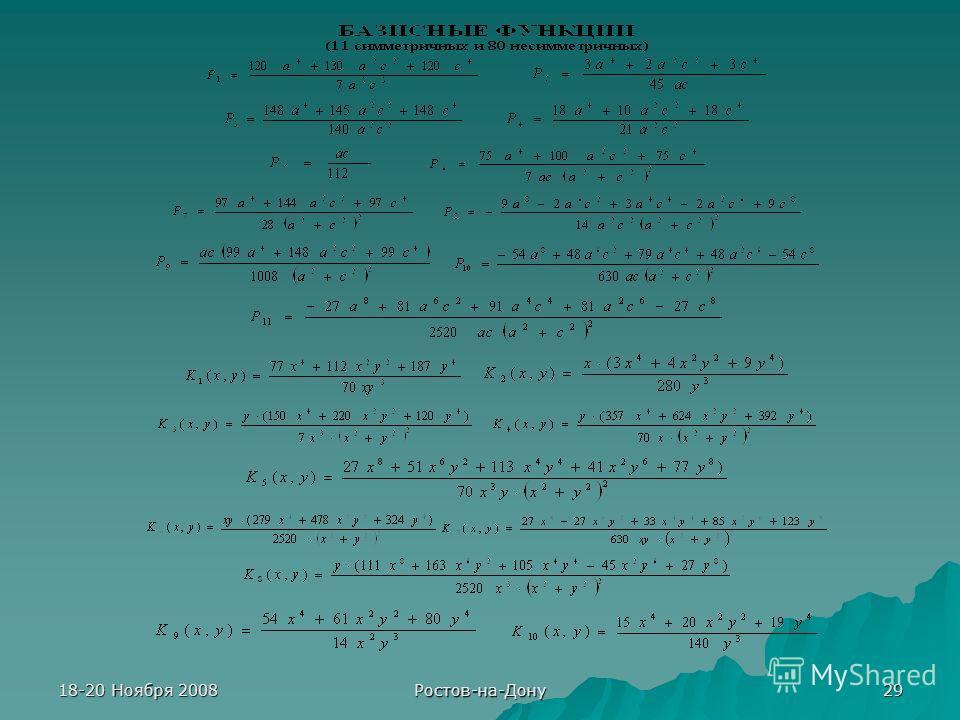18-20 Ноября 2008 Ростов-на-Дону 29