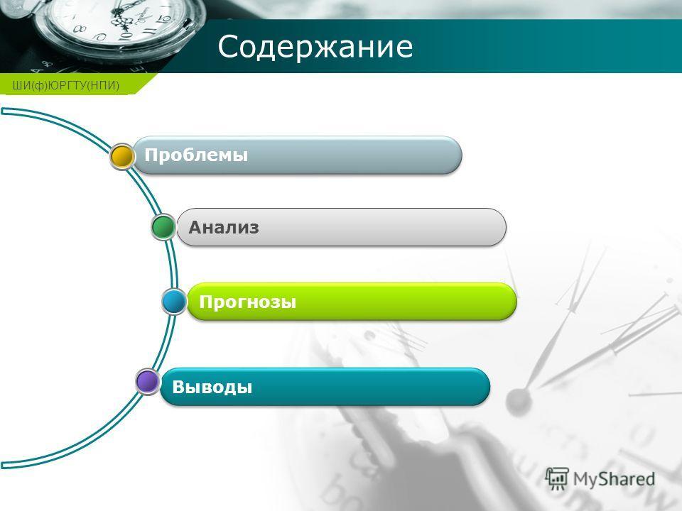 Company name Содержание Выводы Прогнозы Анализ Проблемы ШИ(ф)ЮРГТУ(НПИ)