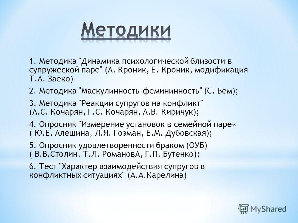 1. Методика