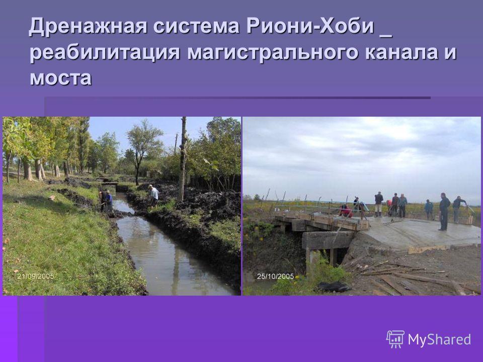 Дренажная система Риони-Хоби _ реабилитация магистрального канала и моста