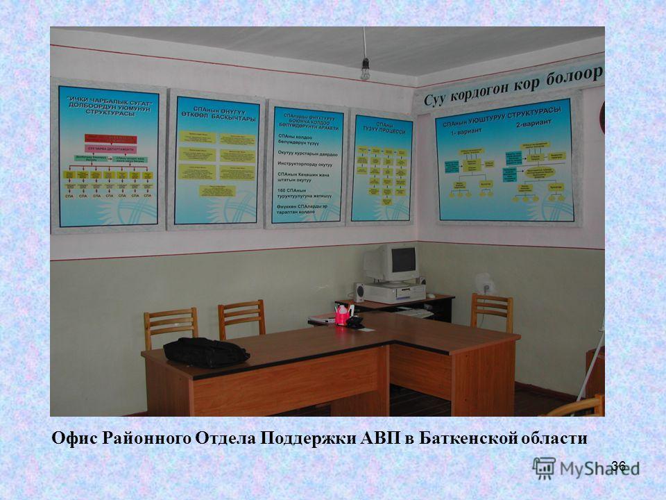 36 Офис Районного Отдела Поддержки АВП в Баткенской области
