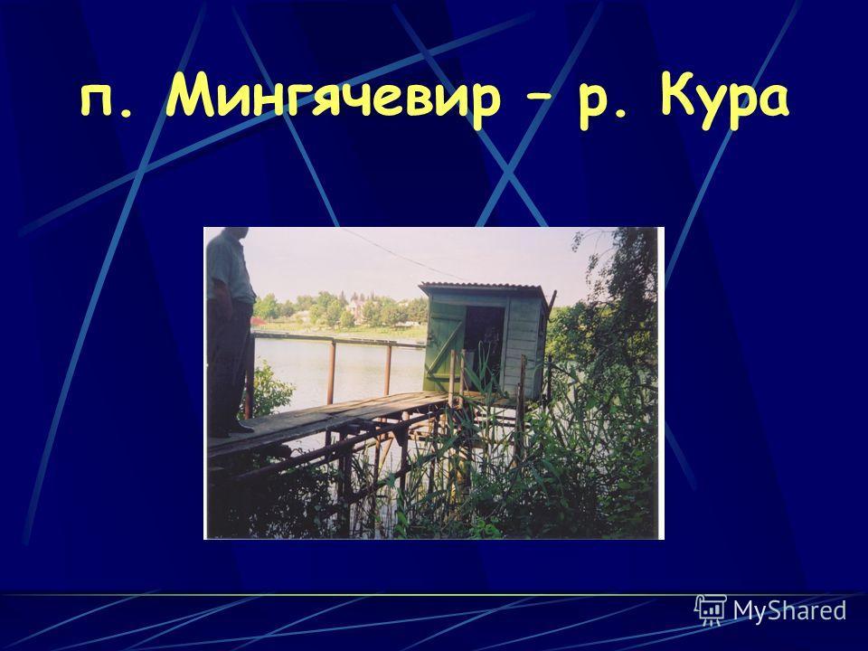 п. Мингячевир – р. Кура