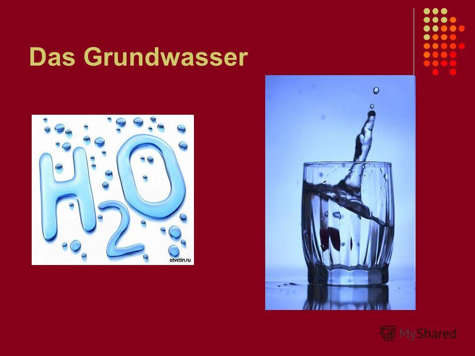 Das Grundwasser