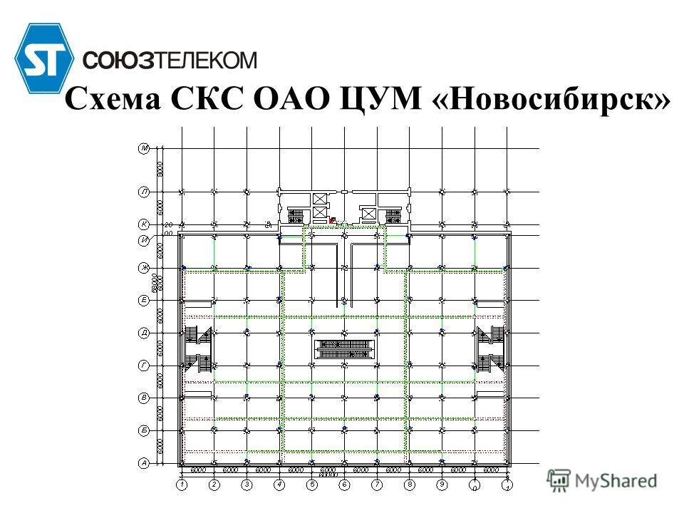 Схема СКС ОАО ЦУМ «Новосибирск»