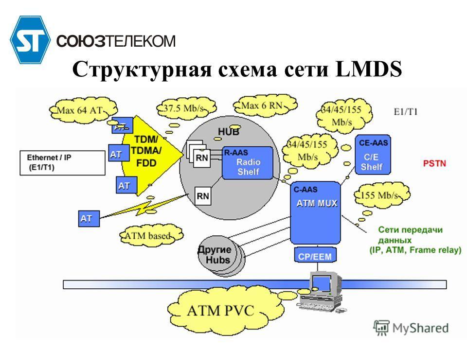 Структурная схема сети LMDS