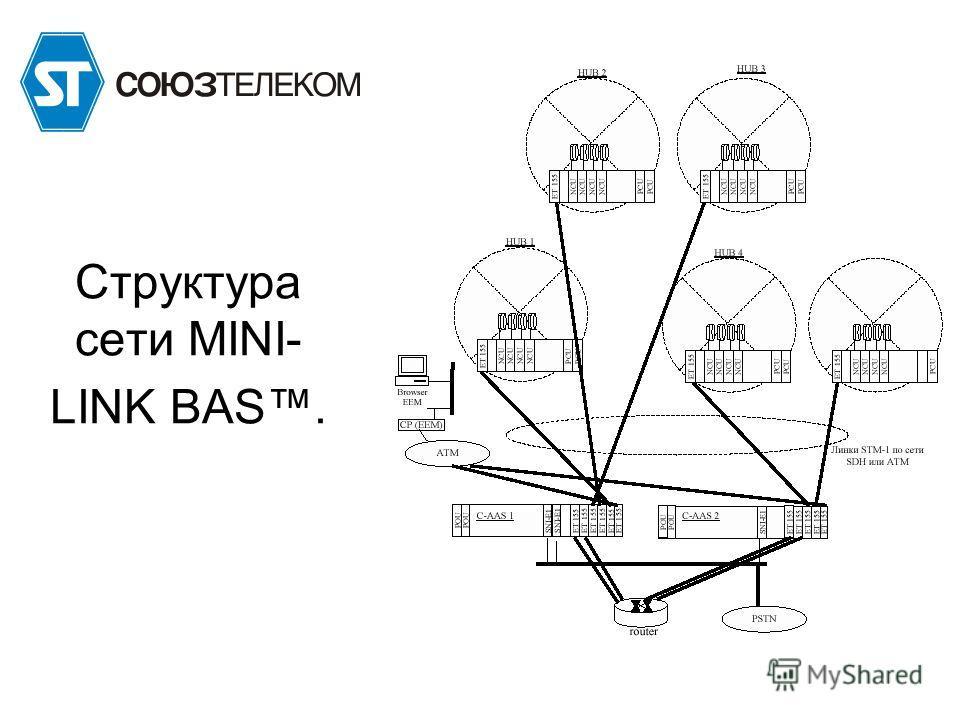 Структура сети MINI- LINK BAS.