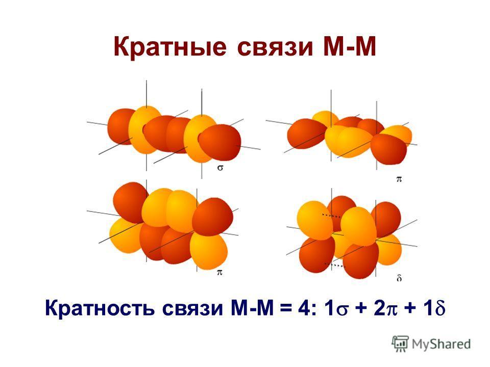 Кратные связи М-М Кратность связи M-M = 4: 1 + 2 + 1
