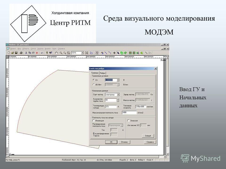 Среда визуального моделирования МОДЭМ Ввод ГУ и Начальных данных
