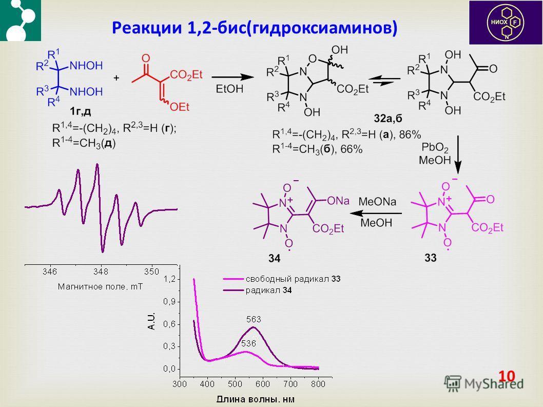 10 Реакции 1,2-бис(гидроксиаминов)