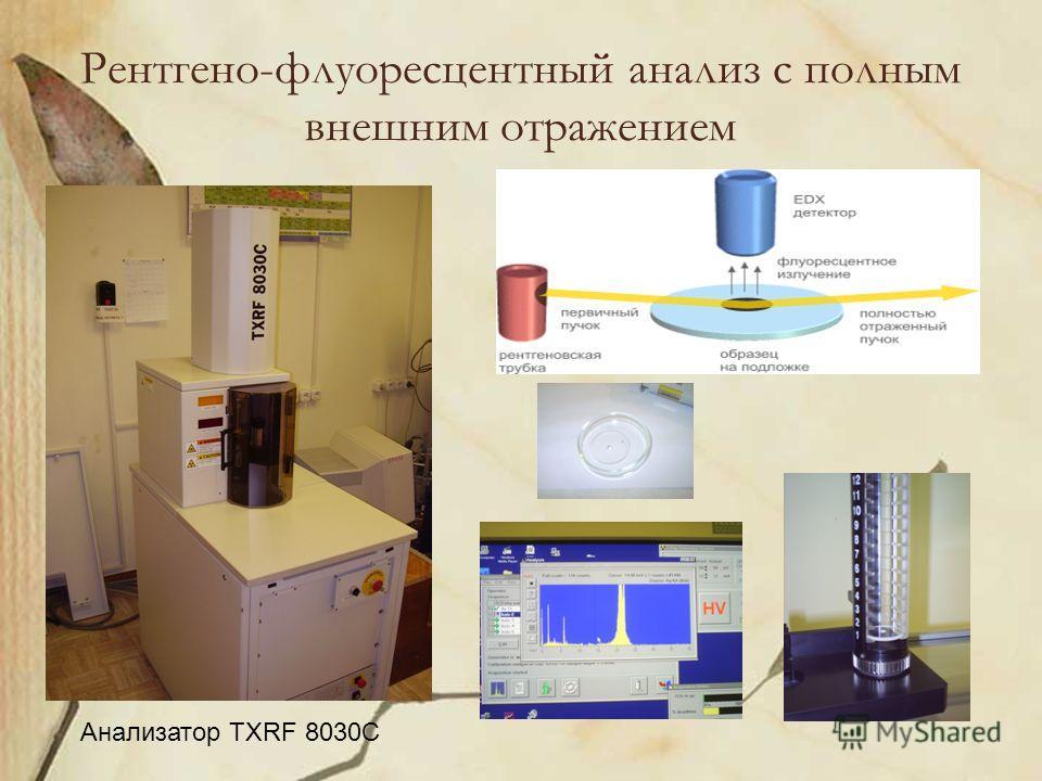 Рентгено-флуоресцентный анализ с полным внешним отражением Анализатор TXRF 8030C