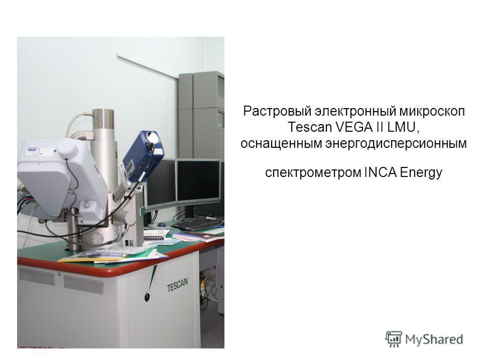 Растровый электронный микроскоп Tescan VEGA II LMU, оснащенным энергодисперсионным спектрометром INCA Energy