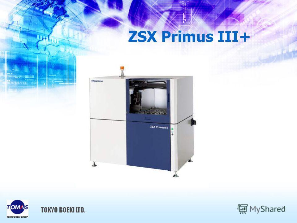 ZSX Primus III+ TOKYO BOEKI LTD. 20