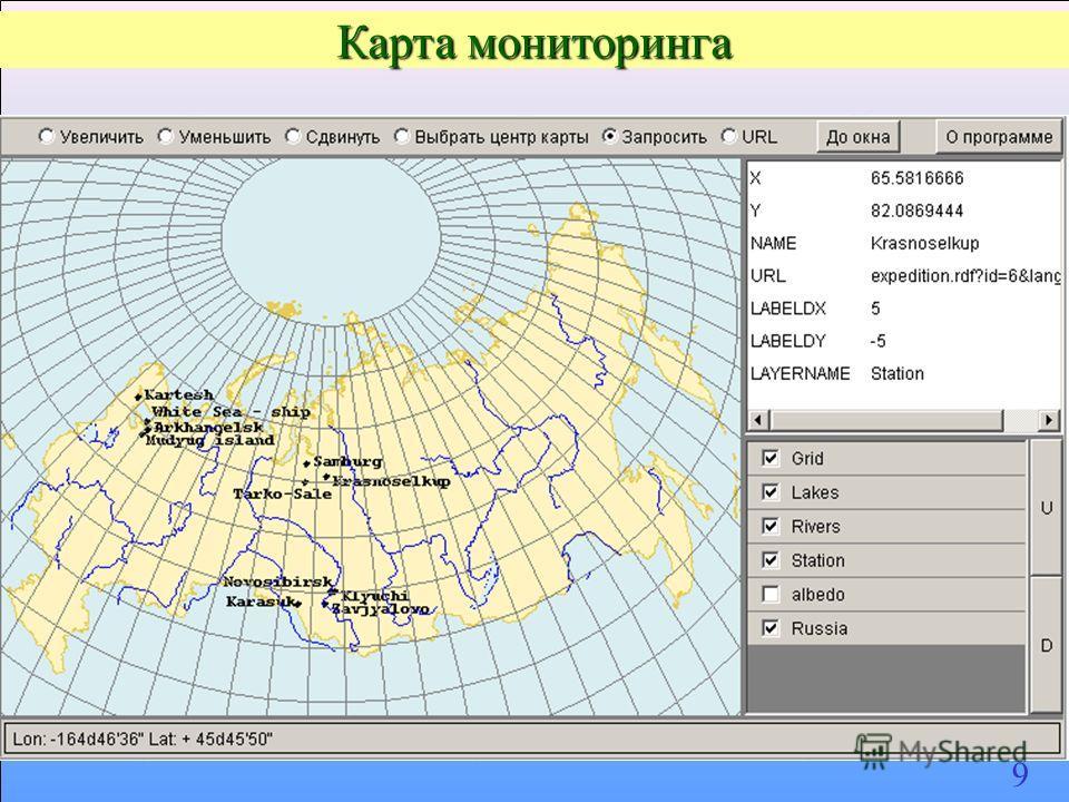 Карта мониторинга 9