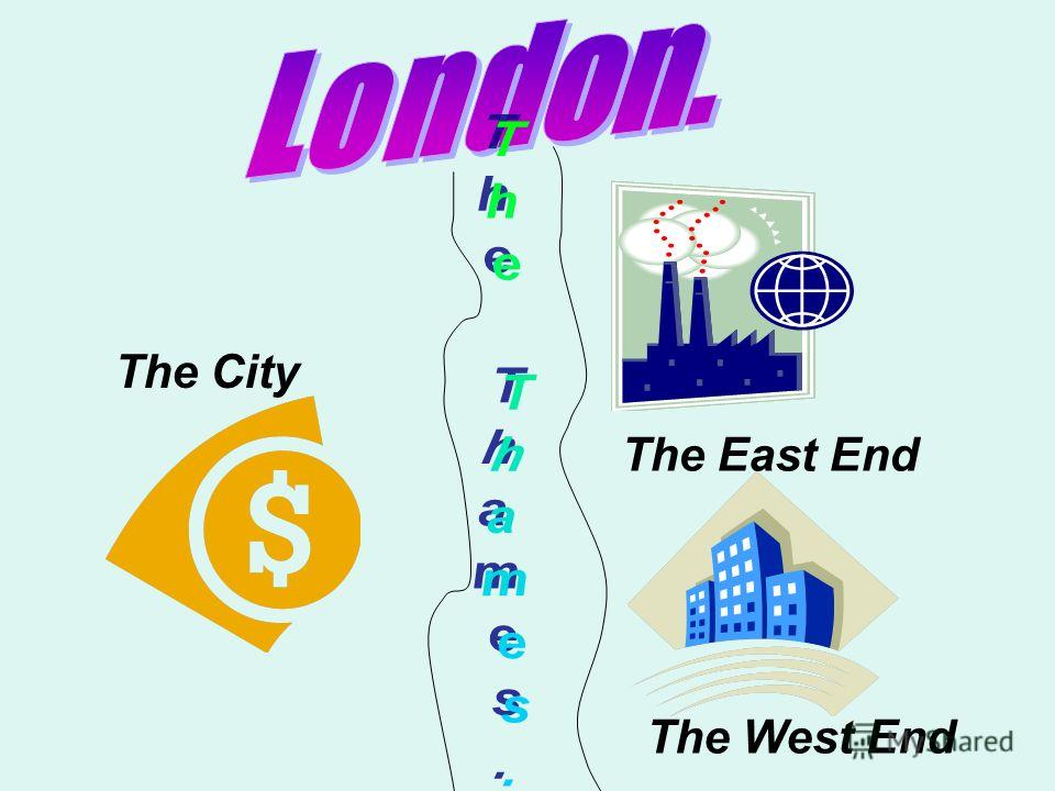 The City The East End The West End