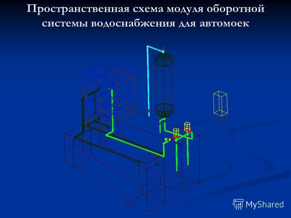 Пространственная схема модуля оборотной системы водоснабжения для автомоек
