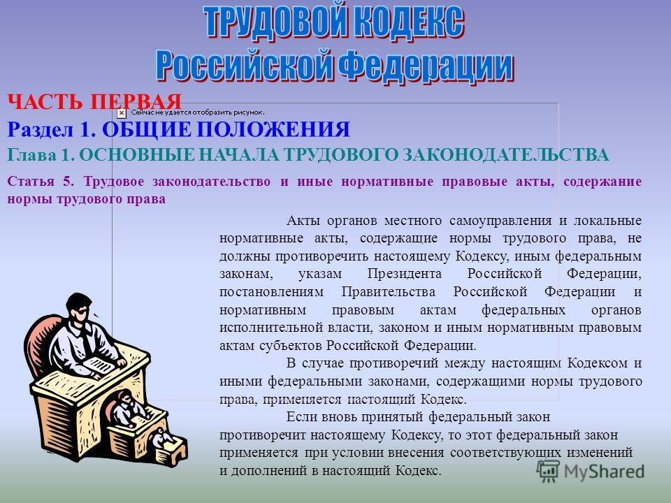 Акты органов местного самоуправления и локальные нормативные акты, содержащие нормы трудового права, не должны противоречить настоящему Кодексу, иным федеральным законам, указам Президента Российской Федерации, постановлениям Правительства Российской