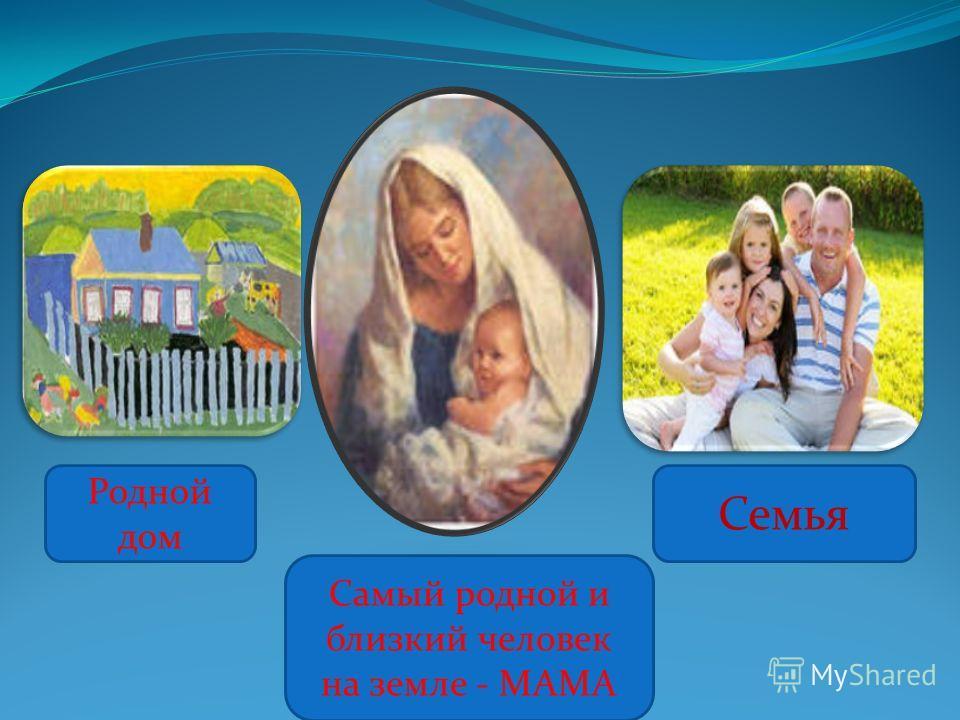 Родной дом Самый родной и близкий человек на земле - МАМА Семья