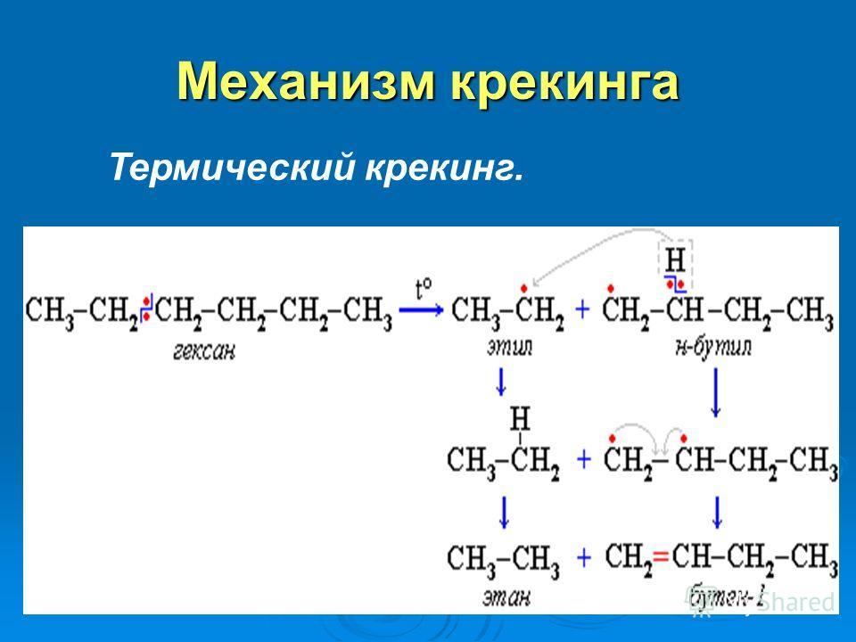 Термический крекинг T = 470 0 - 550 0 мазут
