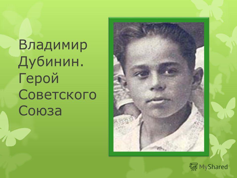 Владимир Дубинин. Герой Советского Союза
