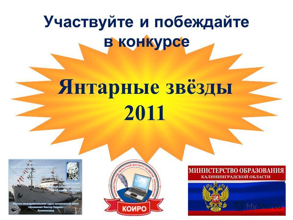 Участвуйте и побеждайте в конкурсе Янтарные звёзды 2011