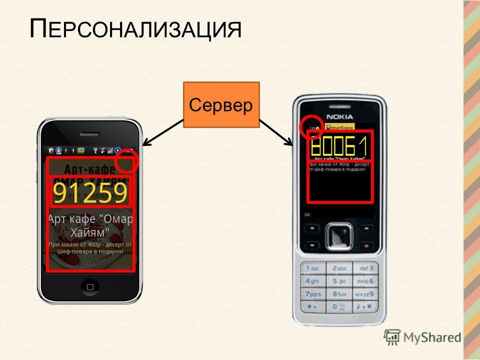 П ЕРСОНАЛИЗАЦИЯ Сервер