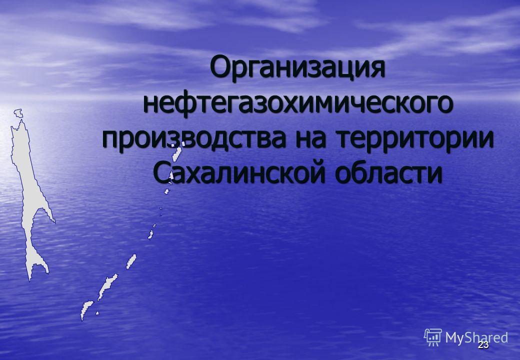 23 Организация нефтегазохимического производства на территории Сахалинской области