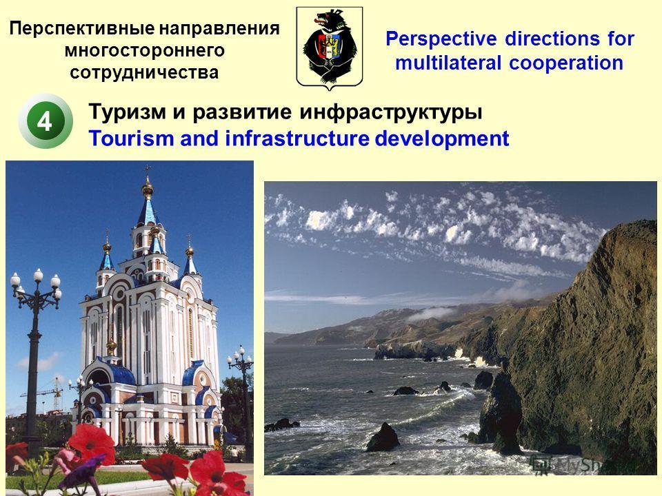 Перспективные направления многостороннего сотрудничества Туризм и развитие инфраструктуры Tourism and infrastructure development 4 Perspective directions for multilateral cooperation
