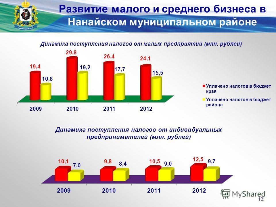 Развитие малого и среднего бизнеса в Нанайском муниципальном районе 13