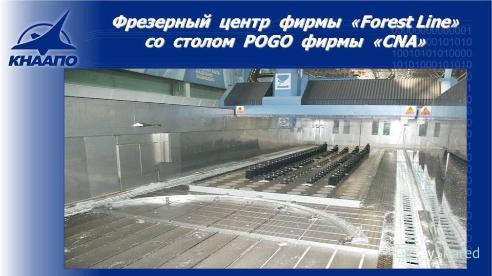 Фрезерный центр фирмы « Forest Line » со столом POGO фирмы « CNA »