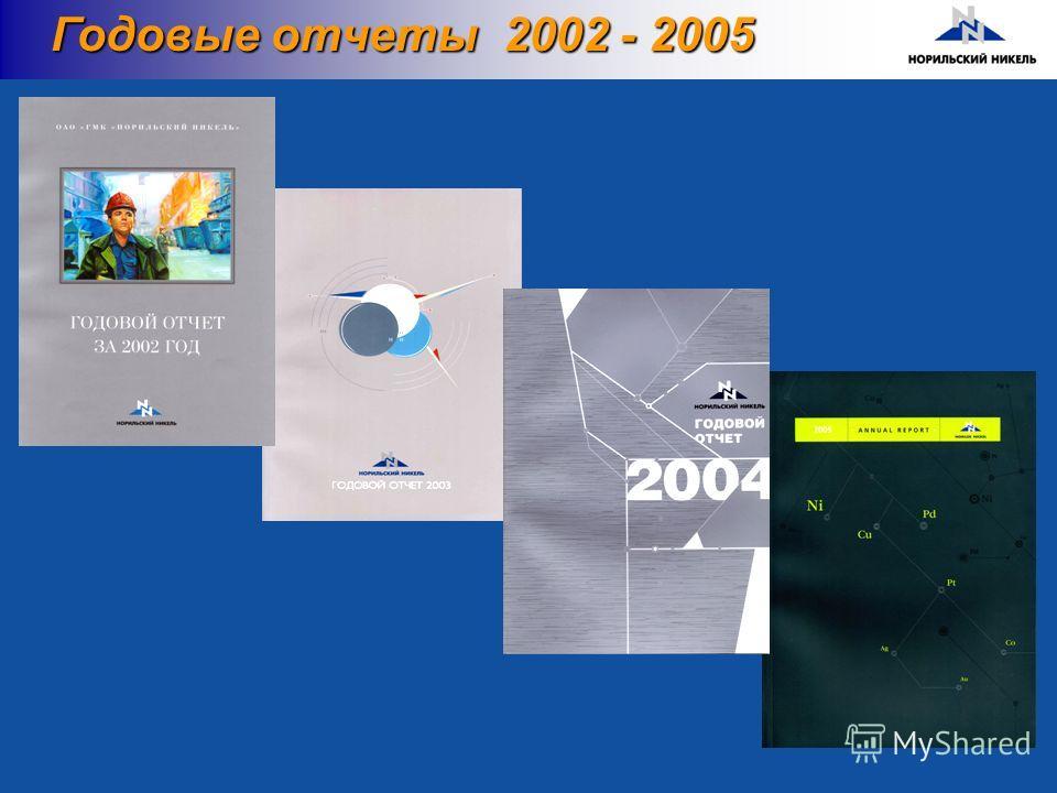 Годовые отчеты 2002 - 2005