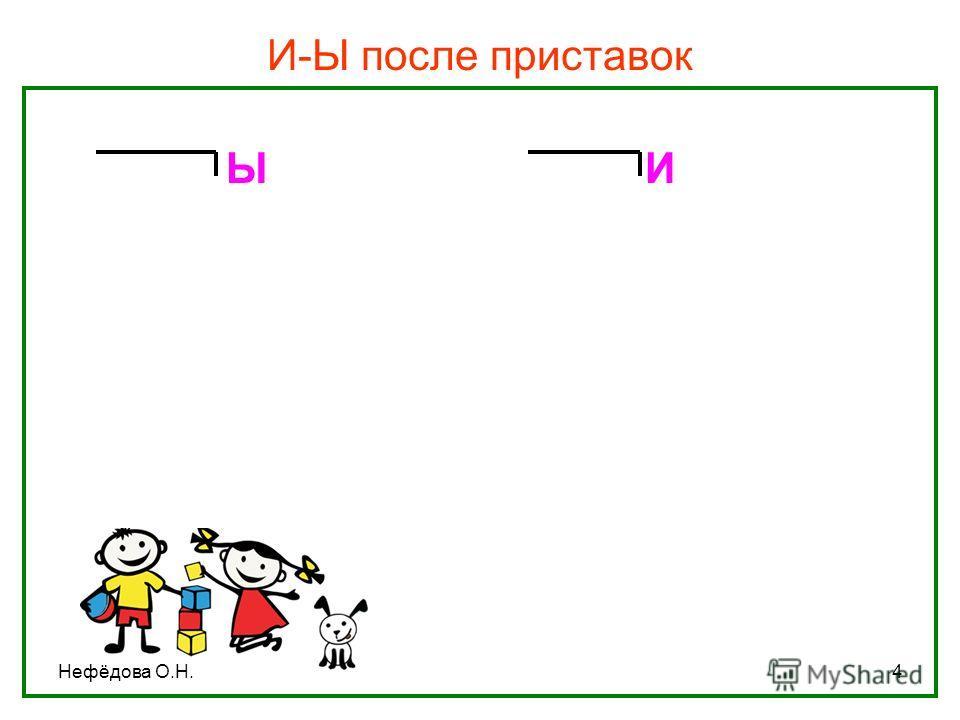 Нефёдова О.Н.4 И-Ы после приставок Ы И