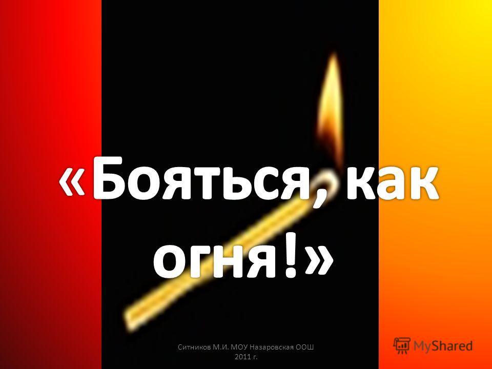 Ситников М.И. МОУ Назаровская ООШ 2011 г.
