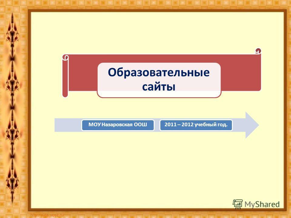 Образовательные сайты МОУ Назаровская ООШ2011 – 2012 учебный год.
