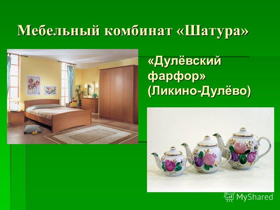 Мебельный комбинат «Шатура» «Дулёвский фарфор» (Ликино-Дулёво)