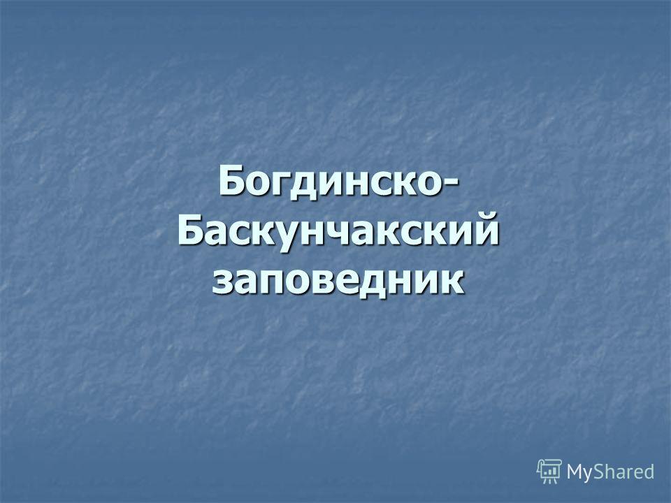 Богдинско- Баскунчакский заповедник