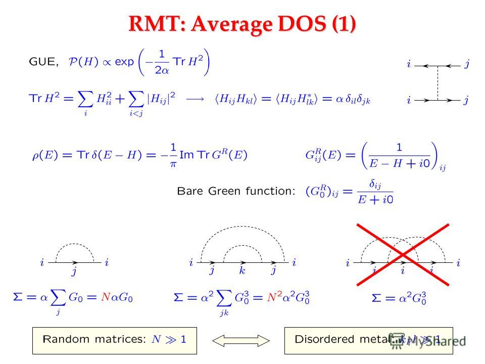 RMT: Average DOS (1)