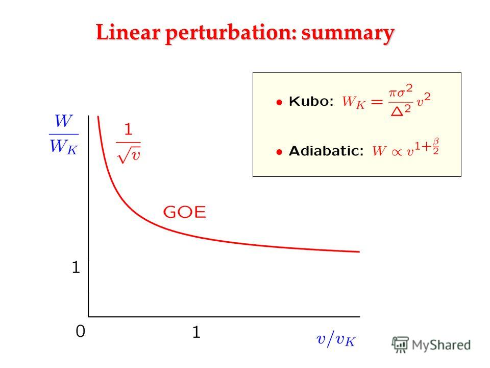 Linear perturbation: summary