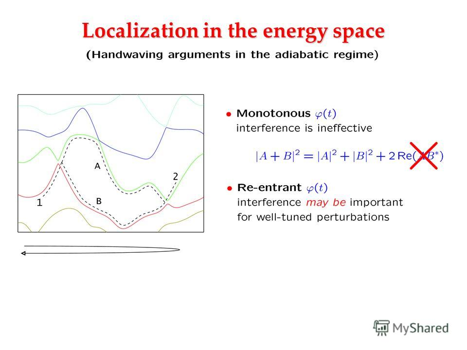 Localization in the energy space