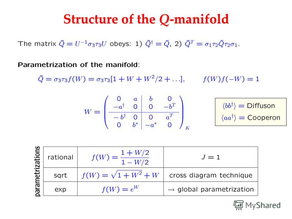 Structure of the Q-manifold