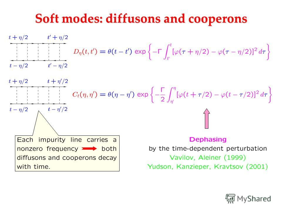 Soft modes: diffusons and cooperons