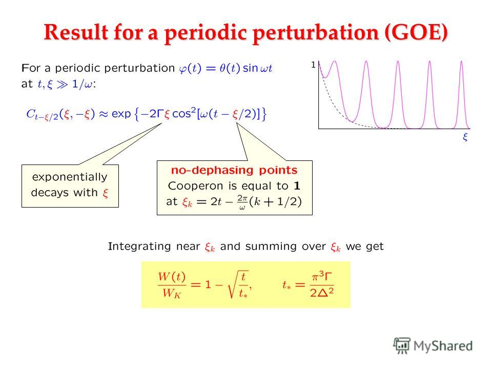 Result for a periodic perturbation (GOE)