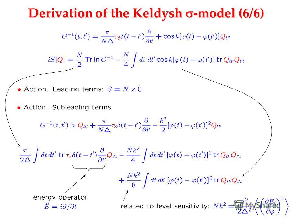 Derivation of the Keldysh -model (6/6)