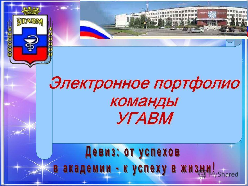 Электронное портфолио команды УГАВМ