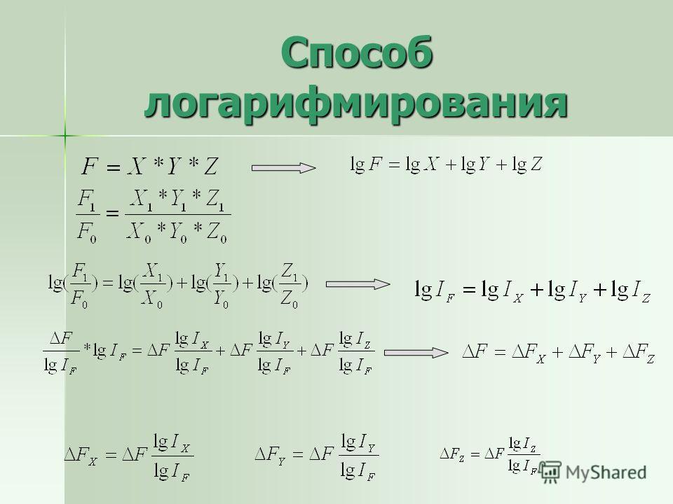 Способ логарифмирования