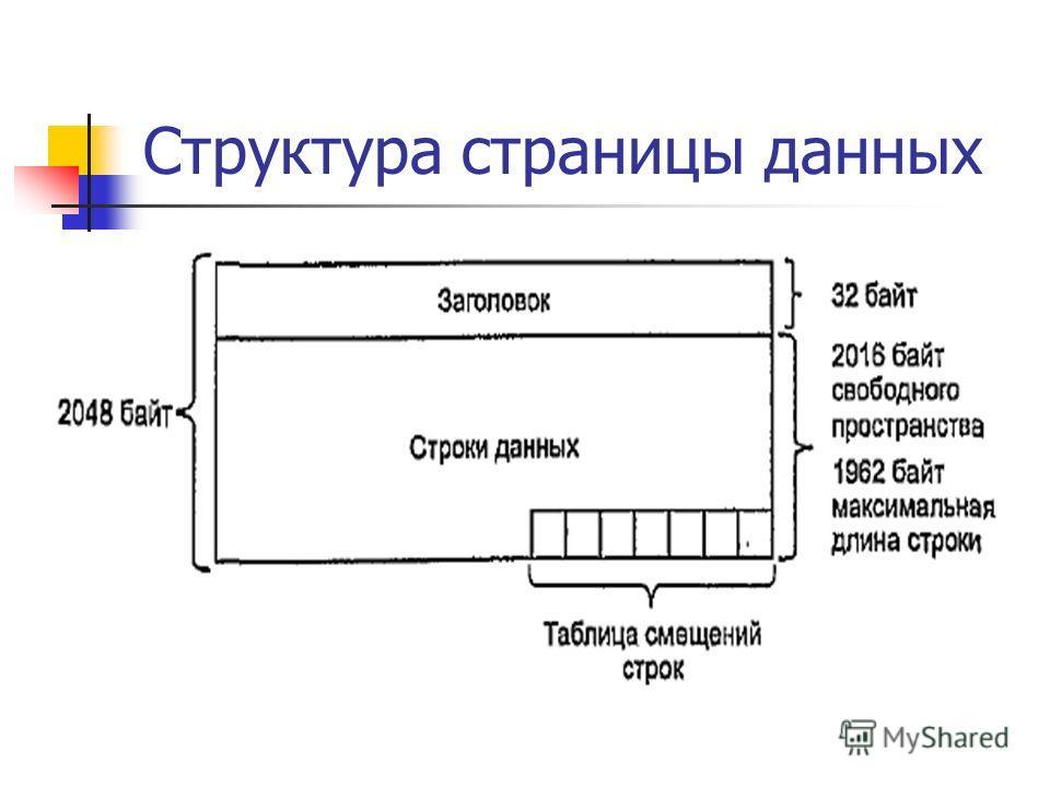 Структура страницы данных