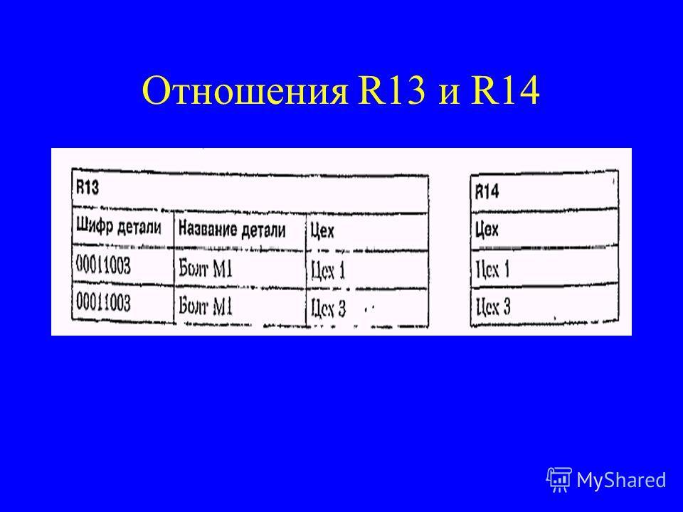 Отношения R13 и R14